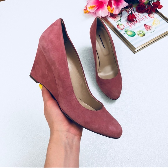 718296ffa8a2 J. Crew Shoes - J. Crew Martina suede wedges is Rose Ash